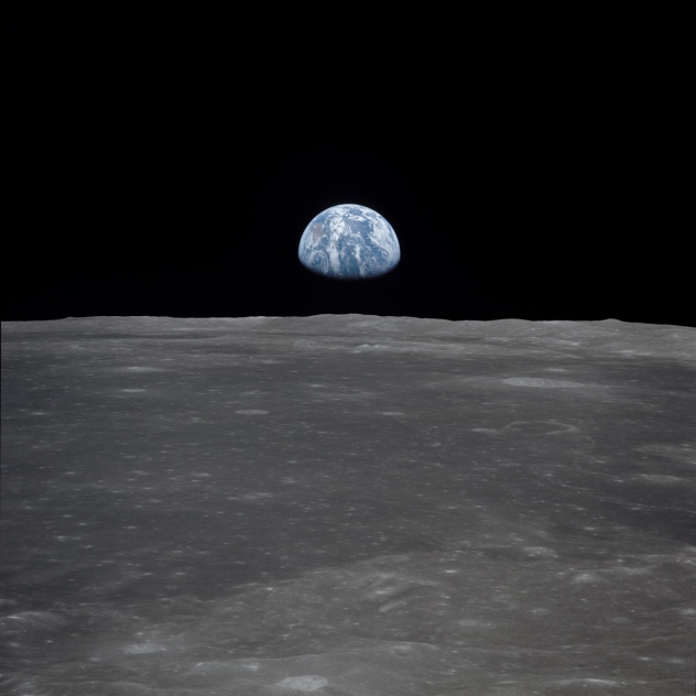 Earthrise with moon horizon - Apollo 11 (20 July 1969)